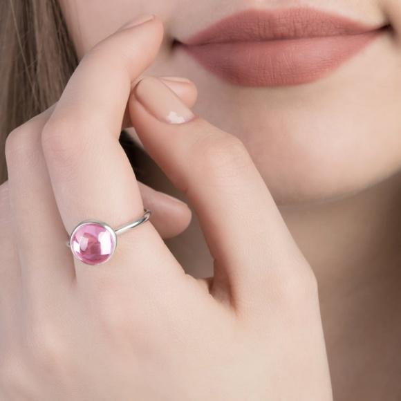 pandora aqua droplet ring